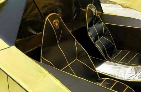 Cuando el ingenio vence al dinero: un hombre hizo su Lamborghini ¡de papel!