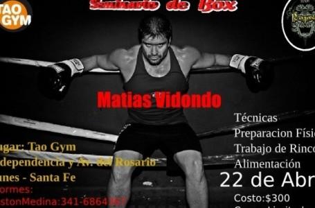 """Matías """"El Matador"""" Vidondo dictará un Seminario de BOX en Tao Gym"""