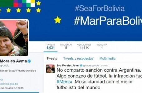 En Bolivia, la sanción a Messi se convirtió en asunto de Estado
