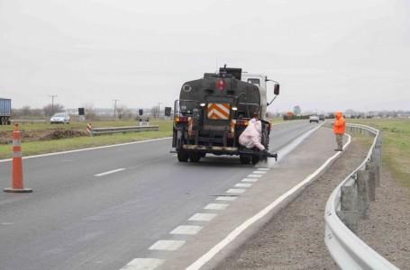 Se reanudaron las obras de alcantarillado en la Autopista