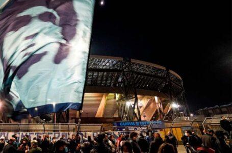 Los futbolistas del Napoli despidieron a Diego Maradona