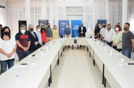El Intendente José María Pedretti firmó un convenio con el Ministerio de Desarrollo en la Casa del Senado