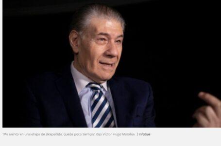 """""""Me siento en una etapa de despedida, queda poco tiempo"""", dijo Víctor Hugo Morales"""