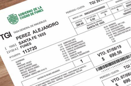 Funes lanza un Plan de Pago Anual de TGI con descuento