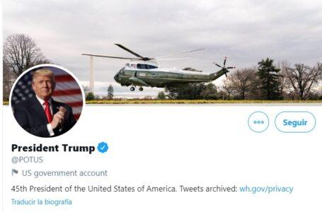 Cerraron la cuenta Trump en Twitter