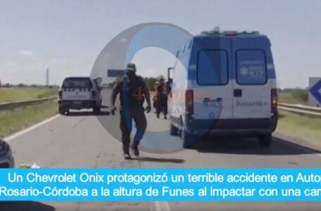 Violento choque en Autopista Rosario/Córdoba a la altura de Funes
