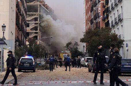 Explosión en el centro de Madrid destruyó varios pisos de un edificio