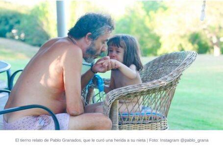 El tierno relato de Pablo Granados, que le curó una herida a su nieta