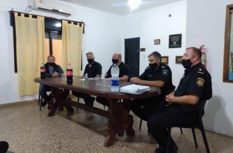 El Presidente de ACIF, sus directivos y comerciantes asociados se reunieron con los jefes de Fuerzas de Seguridad de Funes