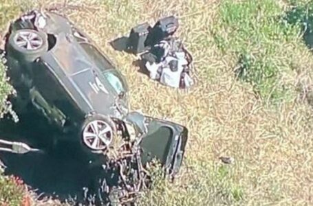 Internaron a Tiger Woods tras un grave incidente con su auto