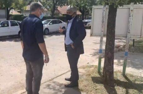 El intendente José María Pedretti con el Fiscal General Jorge Baclini recorrieron las instalaciones para la nueva Fiscalía en Roldán