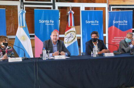 Perotti encabezó la apertura de sobres para la ejecución de Obras Hídricas en Funes