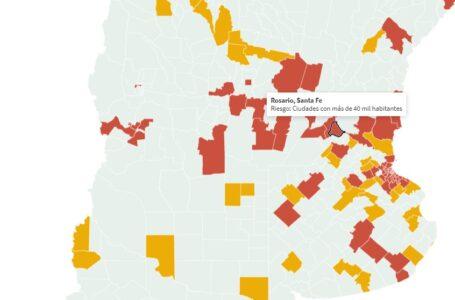 Son 85 Departamentos con alto riesgo epidemiológico en Argentina: Departamento Rosario entre ellos.