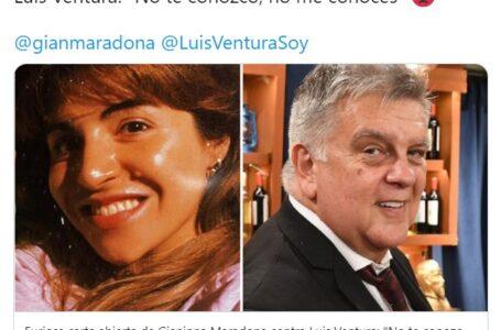 """Gianinna Maradona contra Luis Ventura: """"Mi viejo te odiaba con cada célula de su cuerpo"""""""