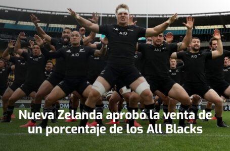 Nueva Zelanda aprobó la venta de un porcentaje de los All Blacks