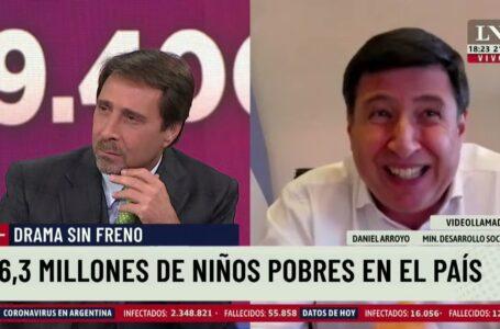 "Eduardo Feinmann cruzó a Daniel Arroyo por la pobreza: ""Debería darle vergüenza"""