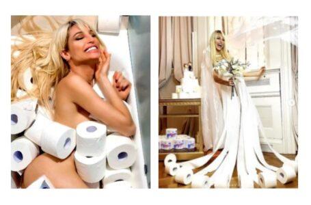 Vicky Xipolitakis realizó un canje increíble: de papel higiénico