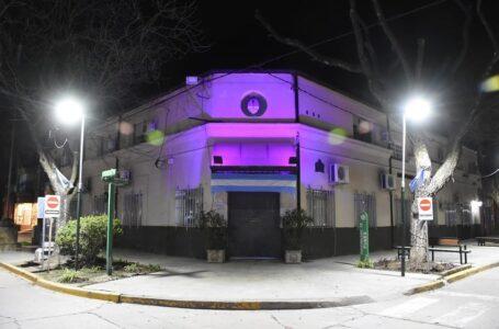 El Municipio de Funes se tiñó de violeta💜