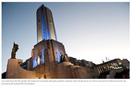 Rosario: Ofrecen a las escuelas un video para hacer la promesa a la bandera en forma virtual