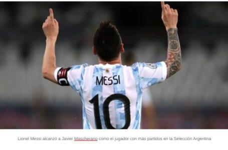 """Messi, histórico: """"Orgulloso por haber podido vestir la celeste y blanca tantas veces"""""""