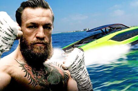 """Conor McGregor recibió su exclusivo """"auto-yate"""" de Lamborghini y lo presumió con una foto que es furor en redes sociales"""