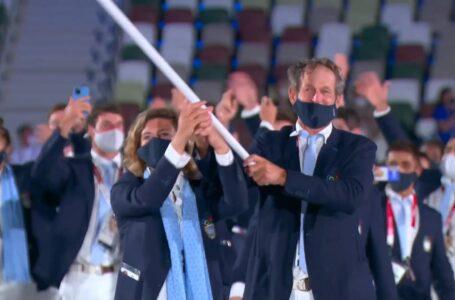 Argentina, con Lange y Sarioli, engalanó la ceremonia inaugural en Tokio