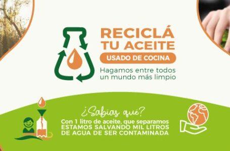La campaña Reciclá tu Aceite llegó a Funes con puntos verdes