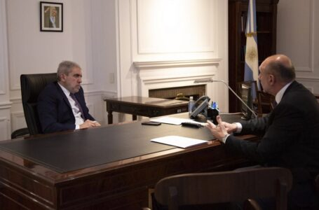 Aníbal Fernández y Omar Perotti se reunieron para coordinar acciones en Santa Fe
