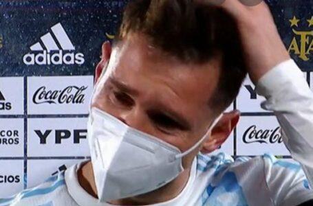 """Messi con lágrimas en sus ojos:"""" Esperé esto hace mucho tiempo"""""""