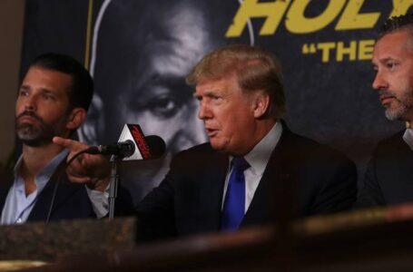Trump debutó como comentarista de boxeo