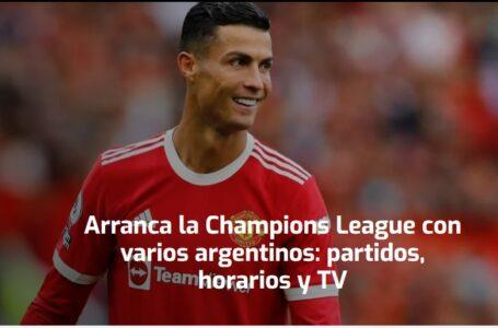 Arranca la Champions League con varios argentinos: partidos, horarios y TV