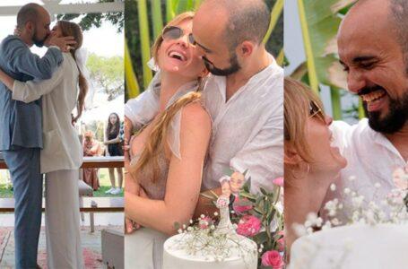 Se casaron Abel Pintos y Mora Calabrese tras ocho años de relación