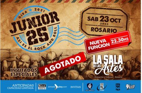 ASÍ ES EL ROCK & ROLL, JUNIOR 25 en Rosario