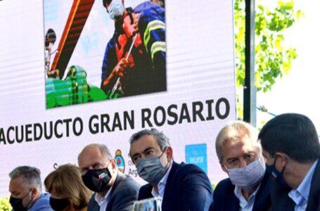 Perotti abrió la licitación de ampliación de la Planta Potabilizadora del Acueducto Gran Rosario que beneficia a Funes.