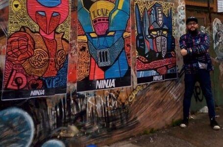 Ninja Arte, el muralista que estuvo al borde de la muerte y hoy impregna fachadas y casas