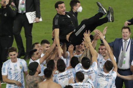 Argentina le ganó a Perú y se acerca a Qatar 2022 .